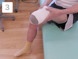 下腿切断者の義足装着